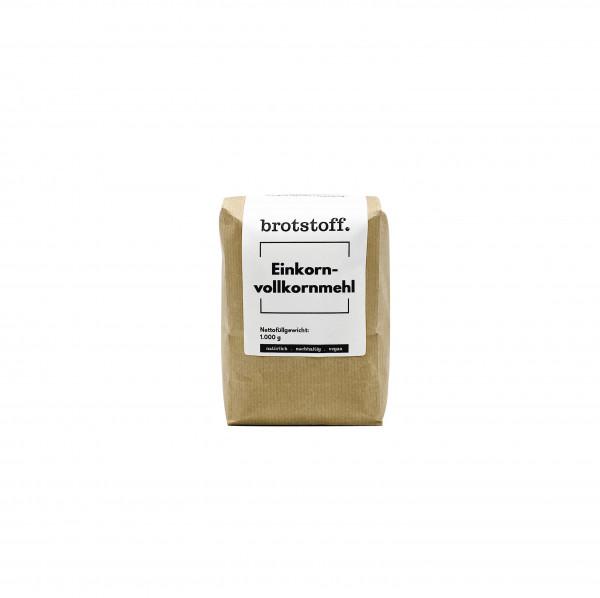brotstoff - Einkornvollkornmehl - Urgetreide - kompostierbare Verpackung - regionaler Anbau