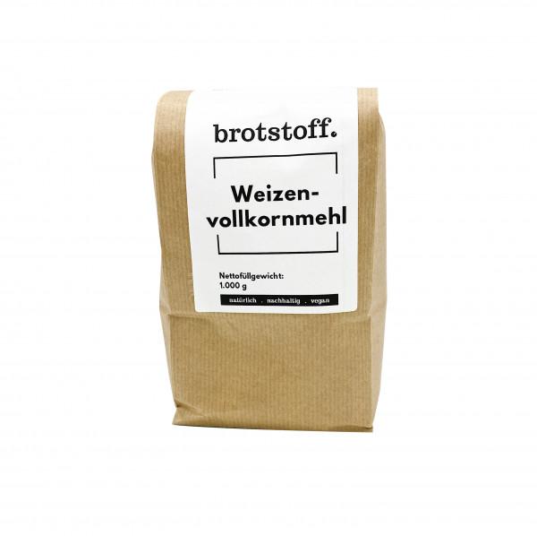 brotstoff - Vollkornmehl - Weizenvollkornmehl - kompostierbarer Beutel
