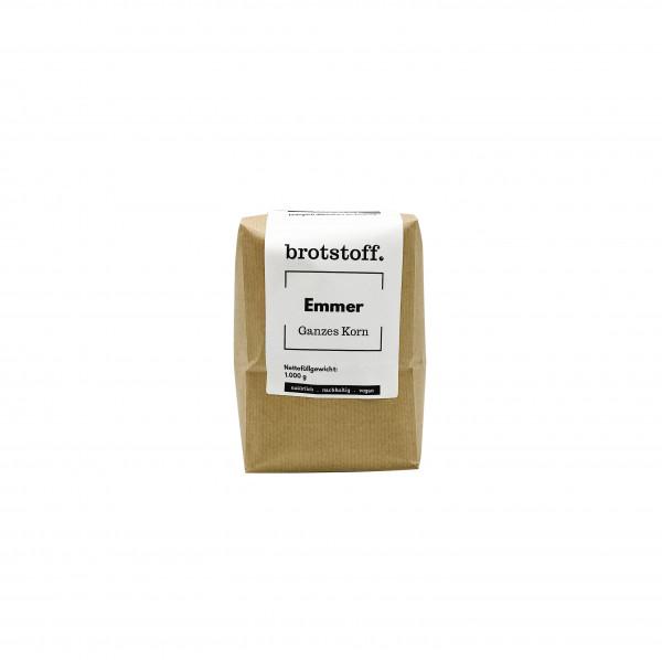 brotstoff - Körner - Emmer - Urgetreide - kompostierbare Verpackung - regionaler Anbau