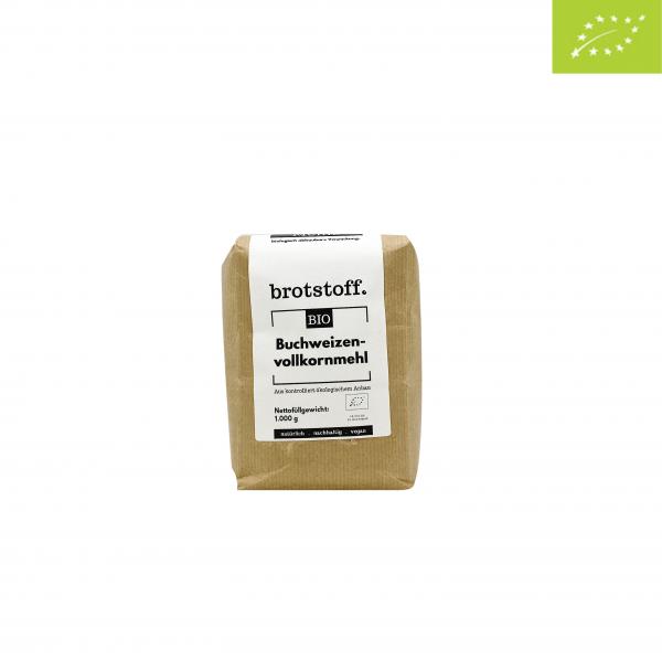 brotstoff - Bio - Buchweizenmehl - Beutel - vorne