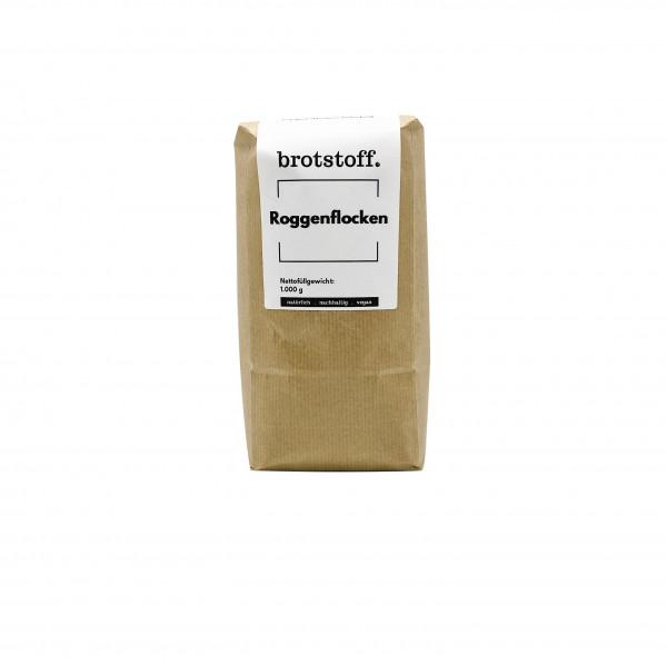brotstoff - Flocken - Roggenflocken - nachhaltige Verpackung von vorne