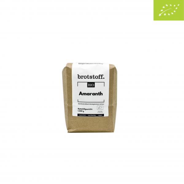 brotstoff - Bio - Amaranth - gepufft - Beutel - vorne