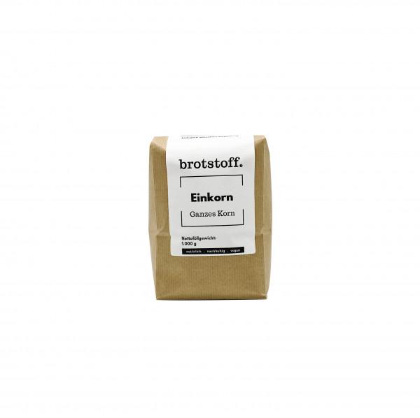 brotstoff - Körner - Einkorn - Urgetreide - kompostierbare Verpackung - regionaler Anbau