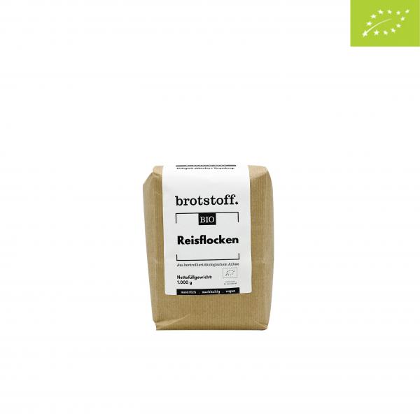 brotstoff - Bio - Reisflocken - Beutel - vorne