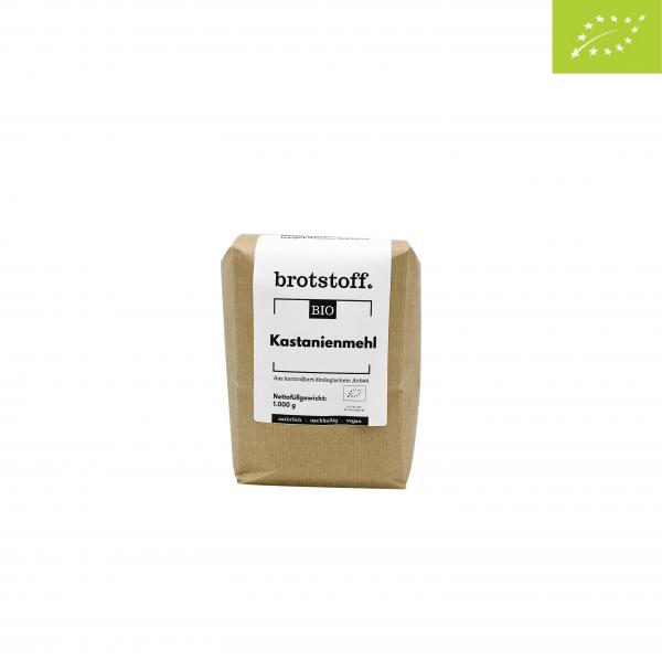 brotstoff - Bio - Kastanienmehl - Beutel - vorne