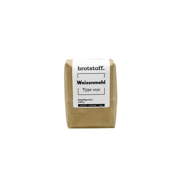 brotstoff - Auszugsmehl - Weizenmehl - Type 1050 - kompostierbare Verpackung - von vorne