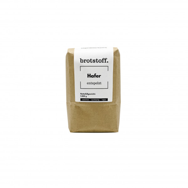 brotstoff - Hafer entspelzt aus NRW - kompostierbare Verpackung