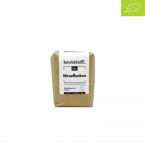 brotstoff - Bio - Hirseflocken - Beutel - vorne