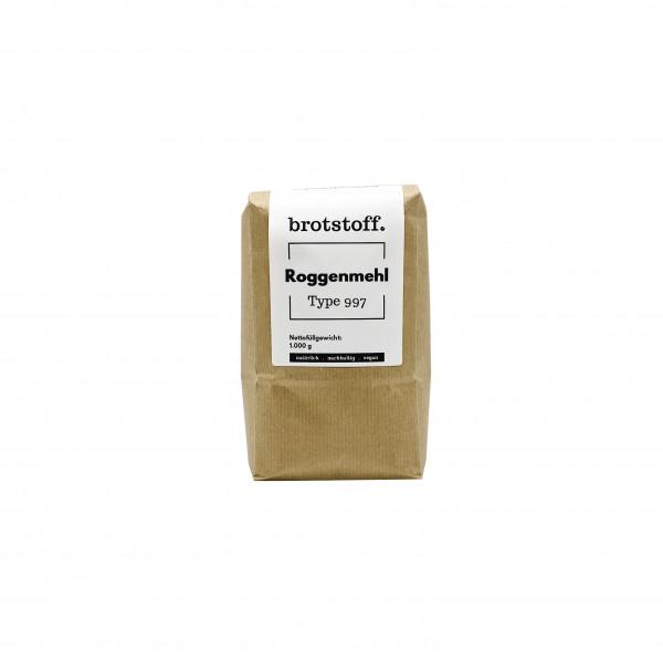 brotstoff - Auszugsmehle - Roggenmehl Type 997 - Kompostierbare Verpackung