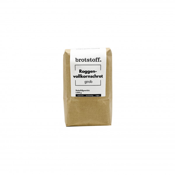 brotstoff - Schrote - Roggenvollkornschrot grob - nachhaltig verpackt