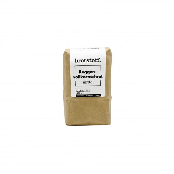 brotstoff - Schrote - Roggenvollkornschrot mittel - kompostierbare Verpackung