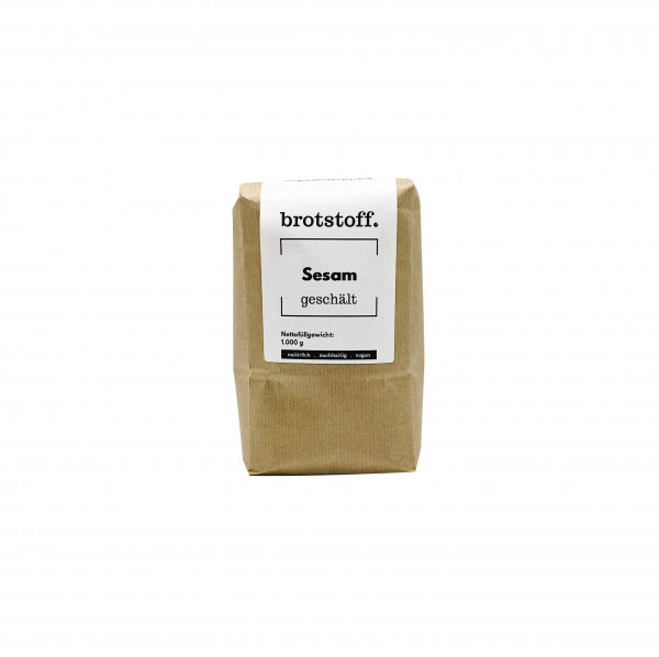brotstoff - Saaten - Sesam - weiß - nachhaltige Verpackung