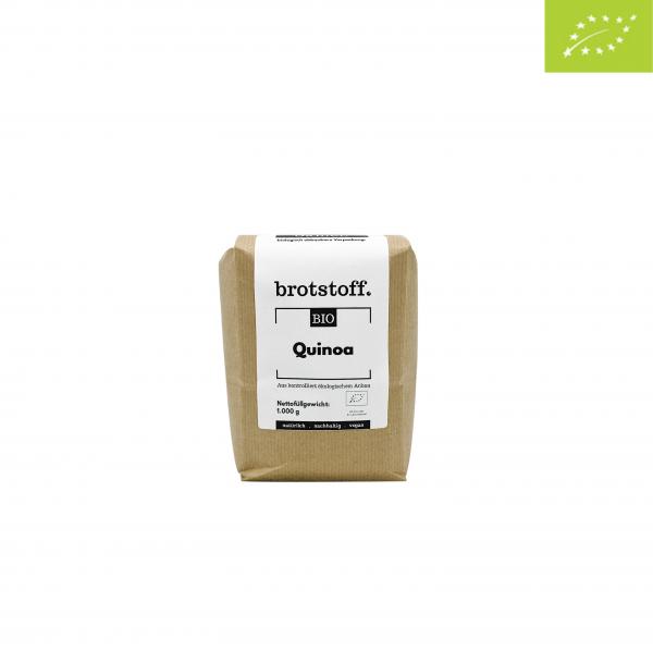 brotstoff - Bio - Quinoa - weiß - Beutel - vorne