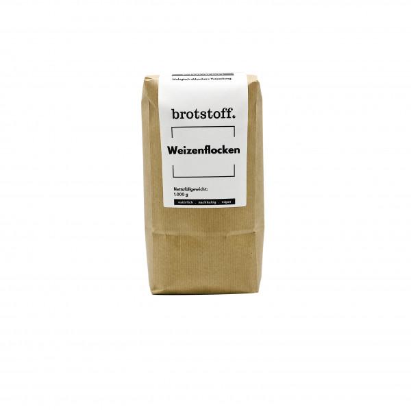 brotstoff - Flocken - Weizenflocken - unverpackt online - kompostierbarer Beutel