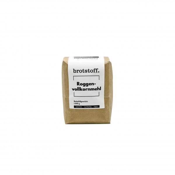 brotstoff - Mehle - Roggenvollkornmehl - kompostierbarer Beutel